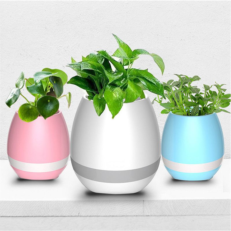Click To Buy 2017 New Smart Led Bluetooth Music Vase Speaker Real
