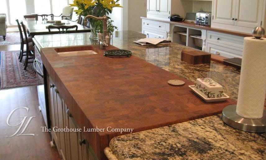 Butcher block countertops are safe to use around stoves