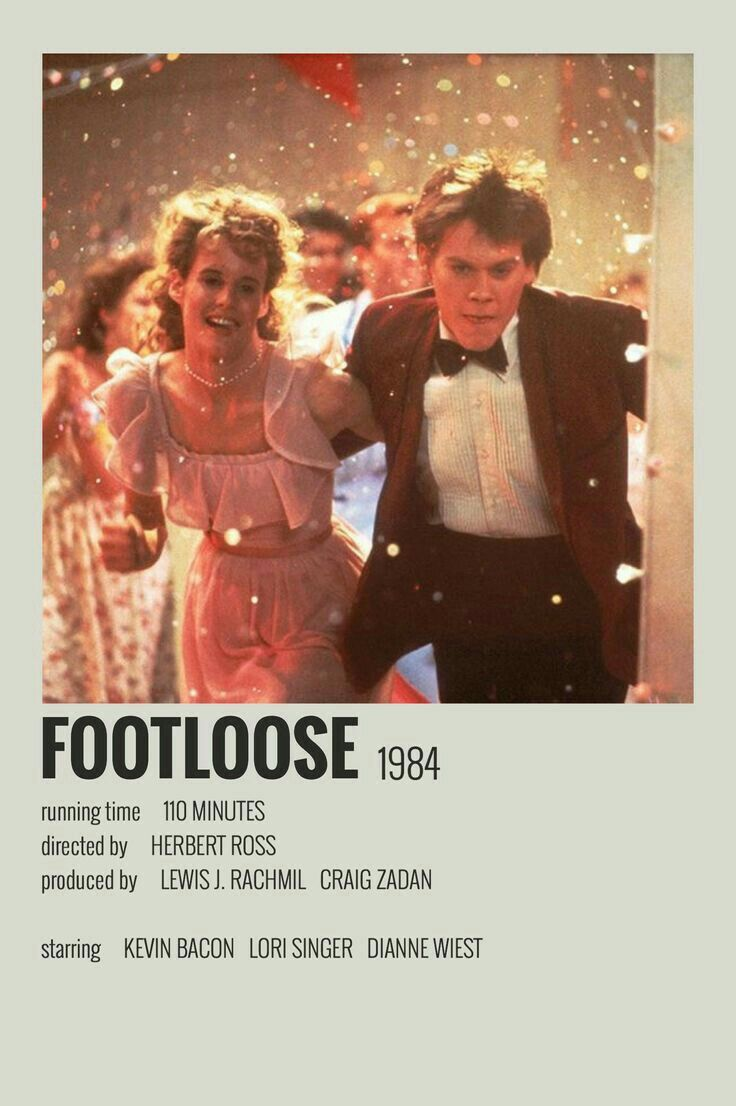 Footloose Poster Film Posters Minimalist Movie Poster Wall Alternative Movie Posters