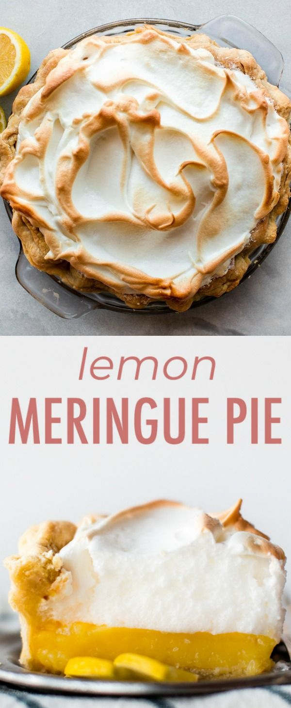 This is the perfect lemon meringue pie! With a delicious homemade pie crust, tart and smooth lemon filling, and a fluffy toasted meringue topping, it's impossible to resist. Recipe on sallysbakingaddiction.com #lemonmeringuepie