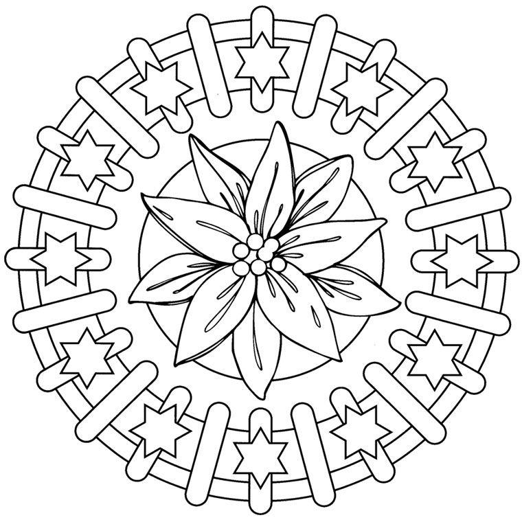 Coloriage Mandala CE1 a Imprimer Gratuit | coloring 3 | Pinterest ...