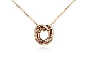 Infinity rings pendant in 14k rose gold pinterest infinity infinity rings pendant in 14k rose gold bluenile aloadofball Choice Image