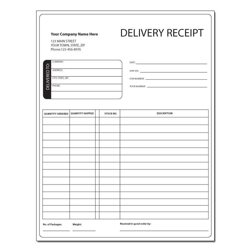 Delivery Invoice Invoice Sample Receipt Template Sample Resume