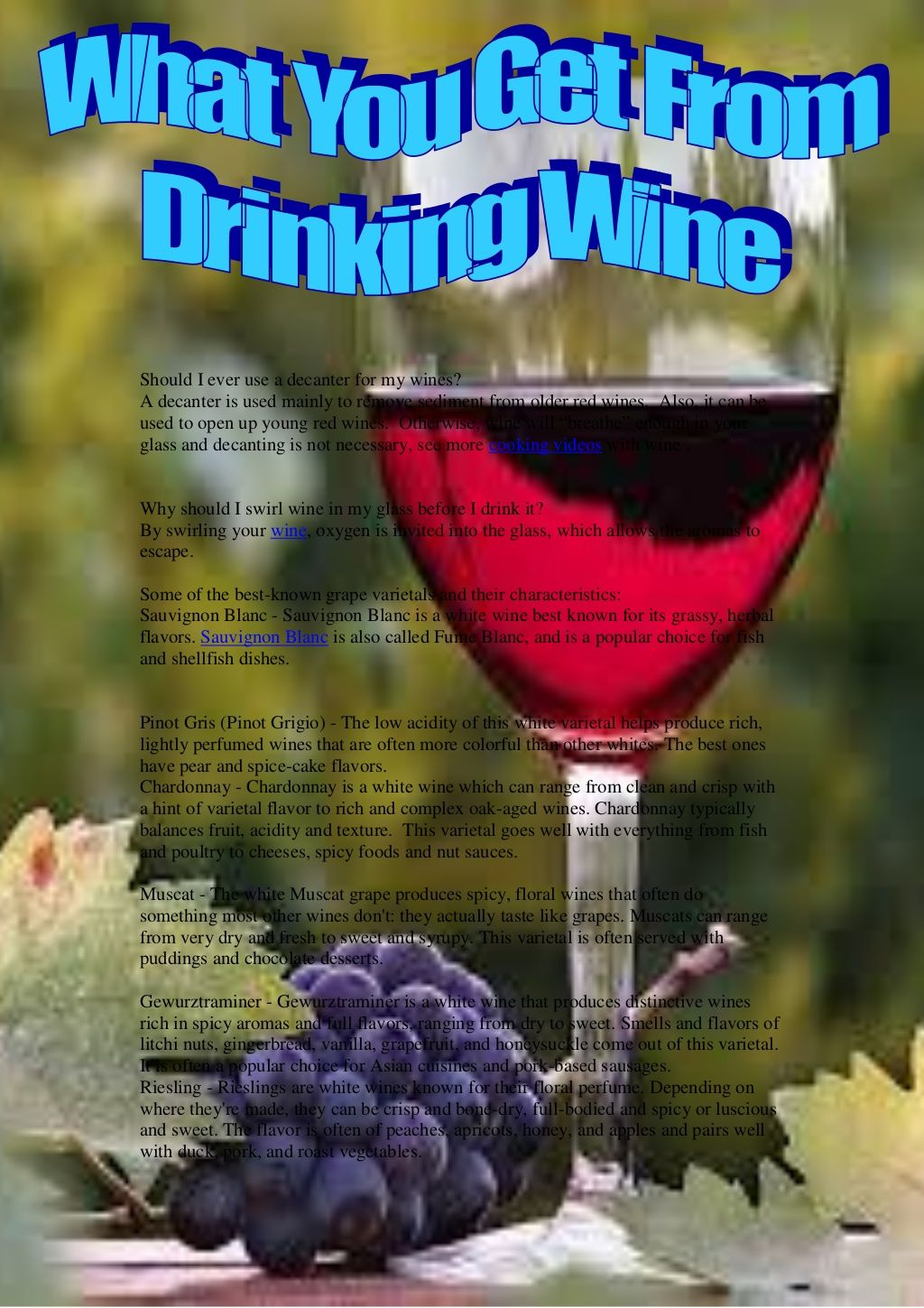 What You Get From Drinking Wine By Angel Vicky Via Slideshare Wine Drinks Wine Fine Wine