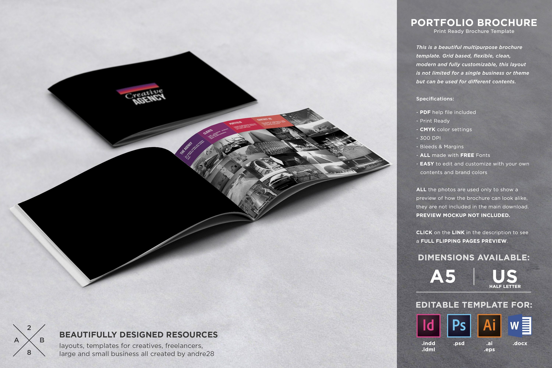 Portfolio Brochure Template Inddidmleditindesign