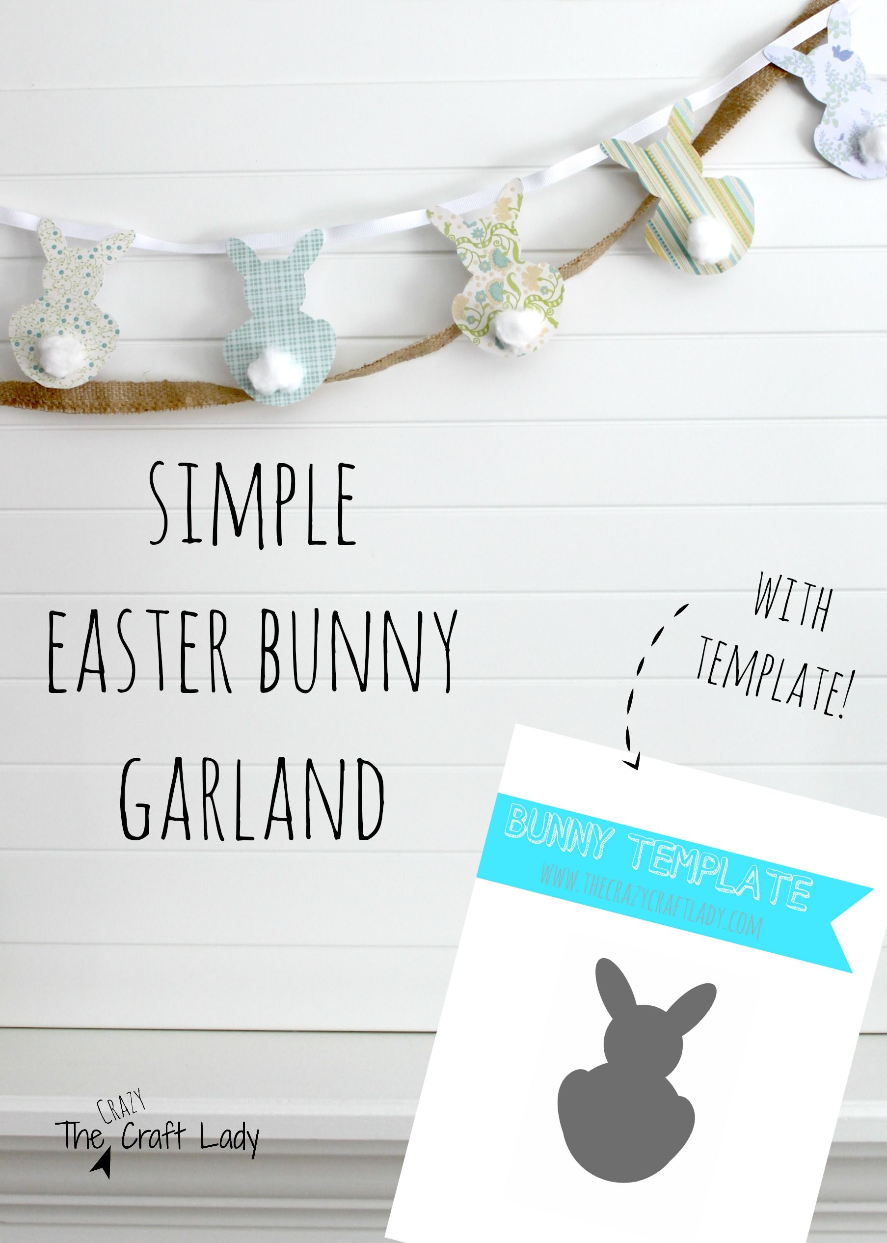 Simple Easter Bunny Garland PB Inspired Pinterest