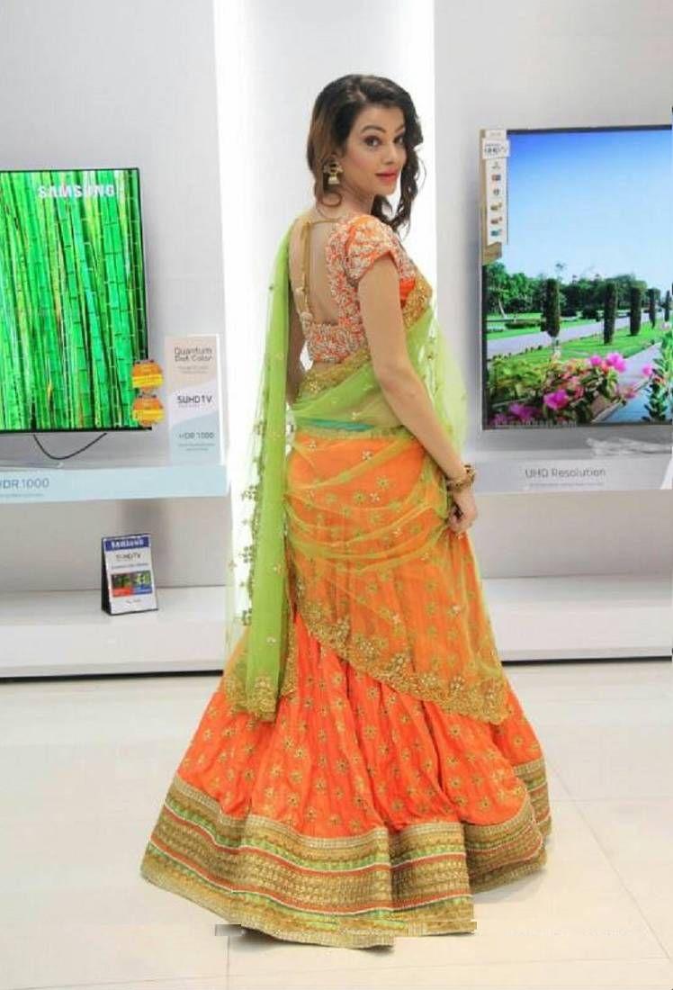 acc2027ac2 Orange embroidered silk semi stitched lehenga with dupatta | Orange ...