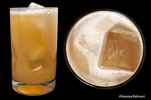 Tequila, Pineapple Juice, Lime Juice, Worcestershire, Sriracha, and Ginger Beer... Odd enough it's gotta be worth trying