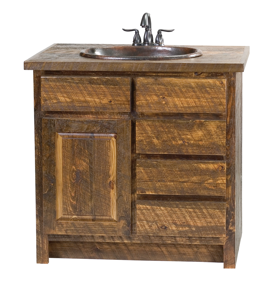 Faux barn wood vanity rustic furniture mall by timber for Furniture barn