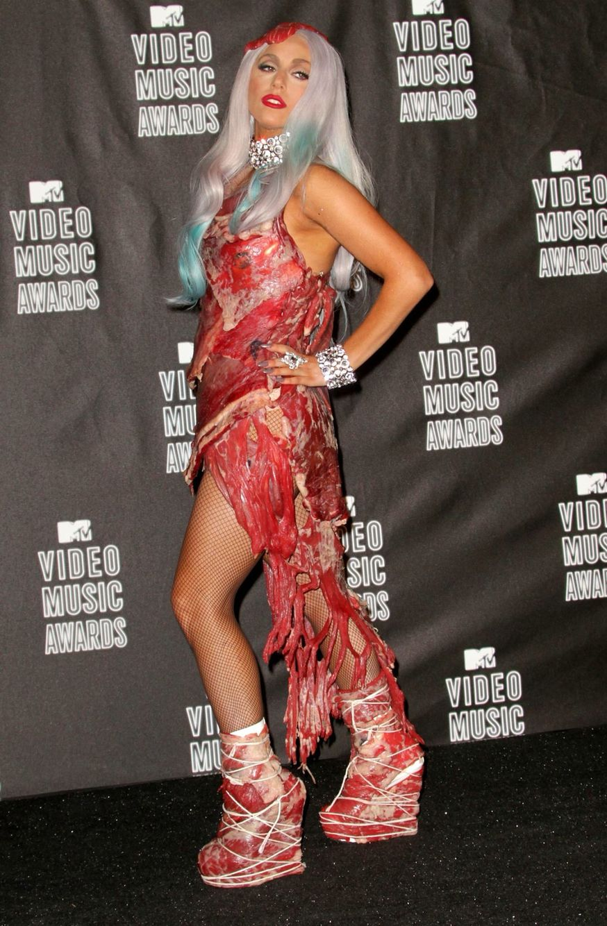 pictures Lady Gaga's famous meat dress goes on show