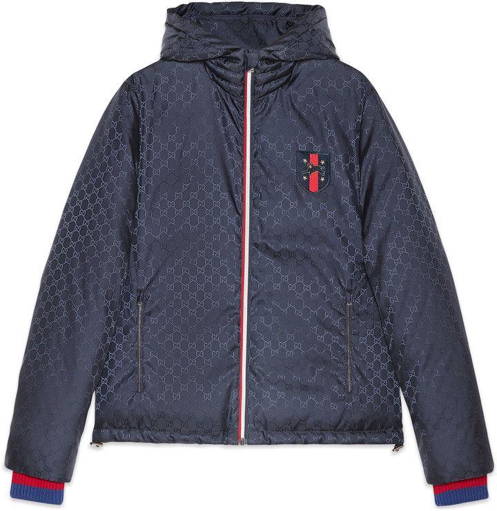 Gucci Gg Jacquard Quilted Nylon Jacket Guccijacket Designer