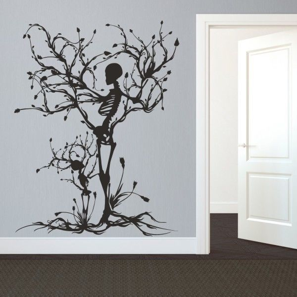 Details About Halloween Skeleton Wall Decal Removable Vinyl Tree Of