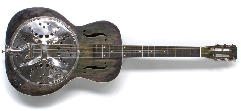 A resonator guitar like the one Jeffrey the possum plays. Wayne Resonator, an Australian guitar circa 1940s.