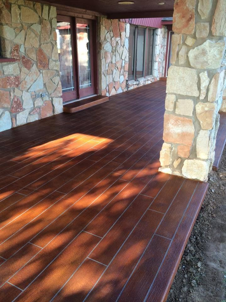 Concrete Wood Overlay, Concrete Staining English Red, Concrete ...