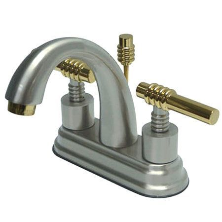 Kingston Brass KS861.ML Milano Centerset Bathroom Faucet with Brass ...
