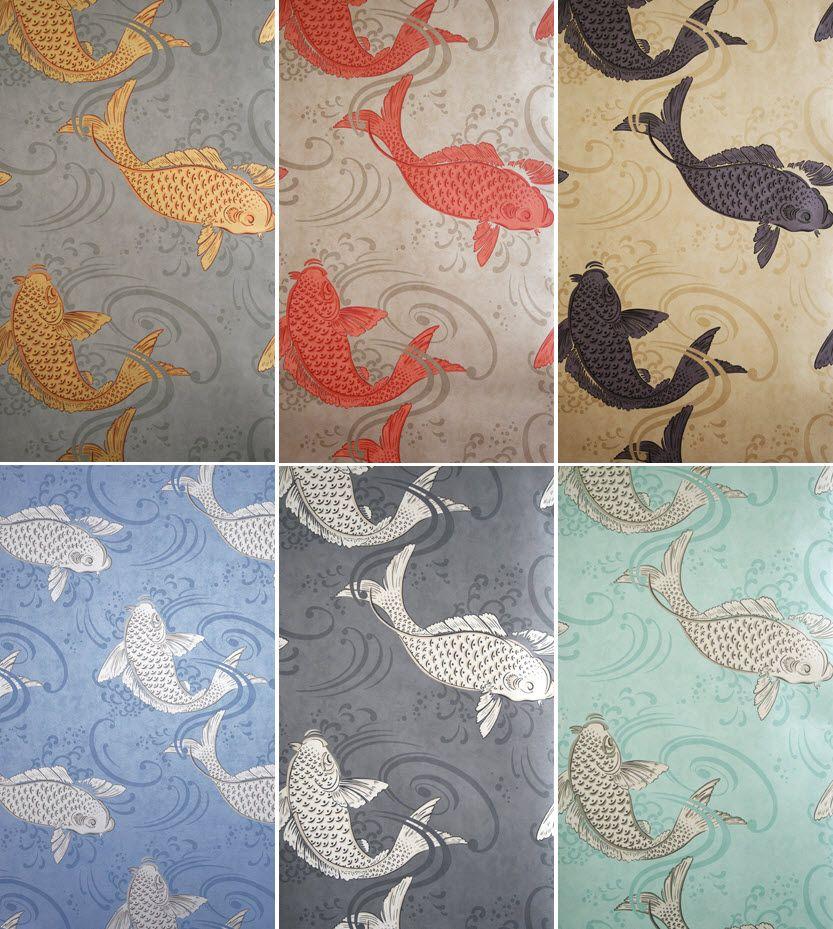 Osborne little koi wallpaper fabulous fabrics and for Koi wallpaper for walls