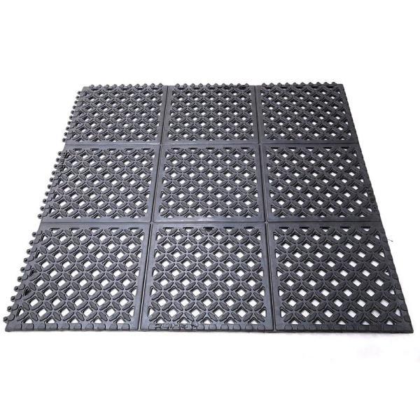 Drain X Diamond Drain Thru Black 2 Ft X 3 Ft X 1 2 In Anti Fatigue Rubber Kitchen Mat In 2020 Rubber Kitchen Mats Anti Fatigue Mat Para Rubber Tree