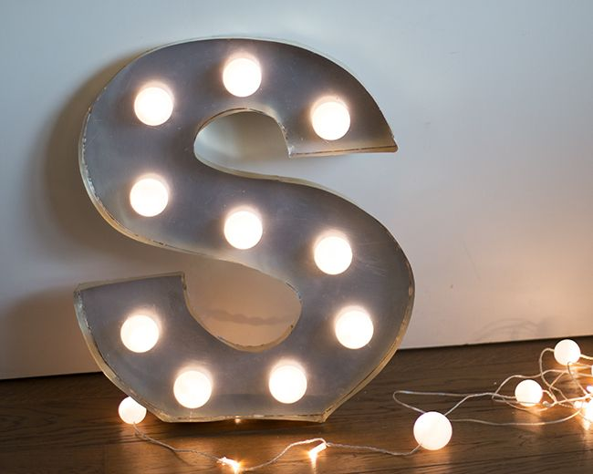 Dare to diy diy c mo hacer letras luminosas room decor - Letras de decoracion ...