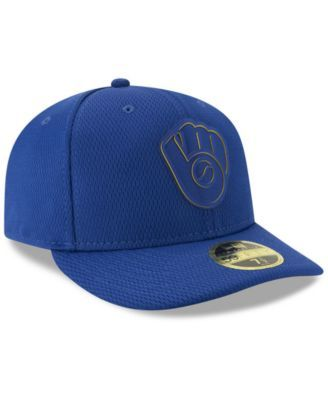 finest selection f3480 c06fb New Era Milwaukee Brewers Clubhouse Low Profile 59FIFTY-fitted Cap - Blue 7  5 8