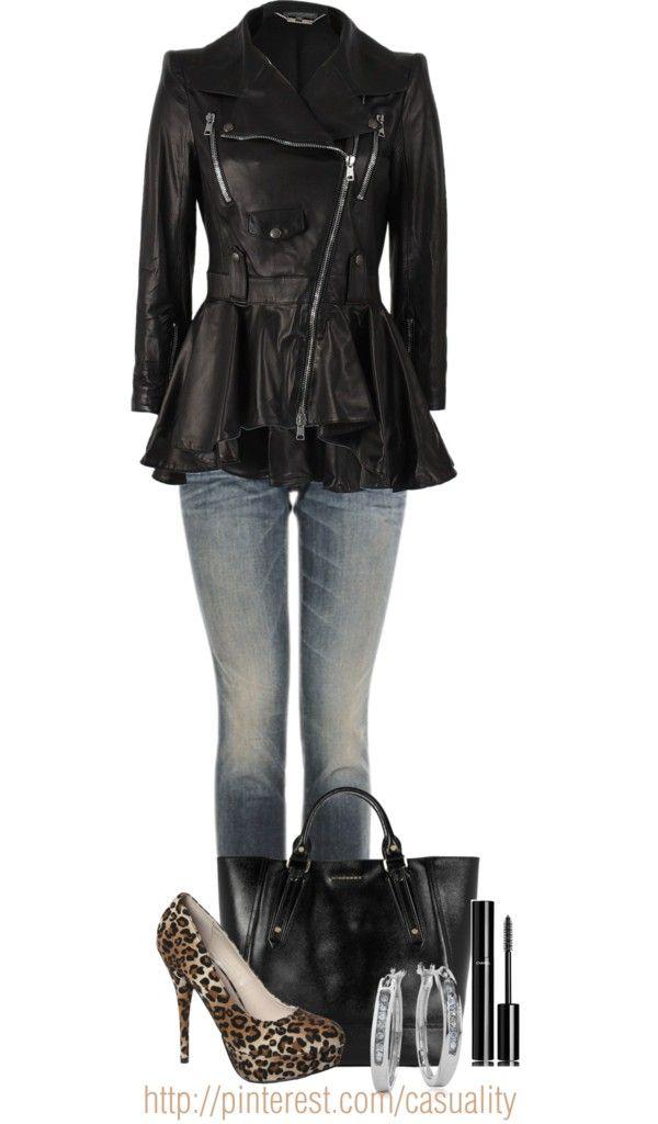Alexander McQueen Leather Peplum Jacket | Fashion, Diva