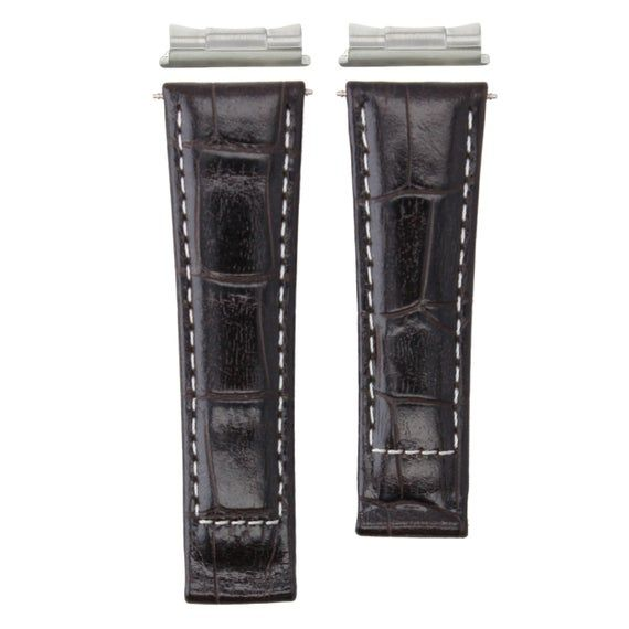 Leather Band Strap For Rolex Daytona + End Piece 16523 D/Brown Ws Short #4Dep #rolexdaytona