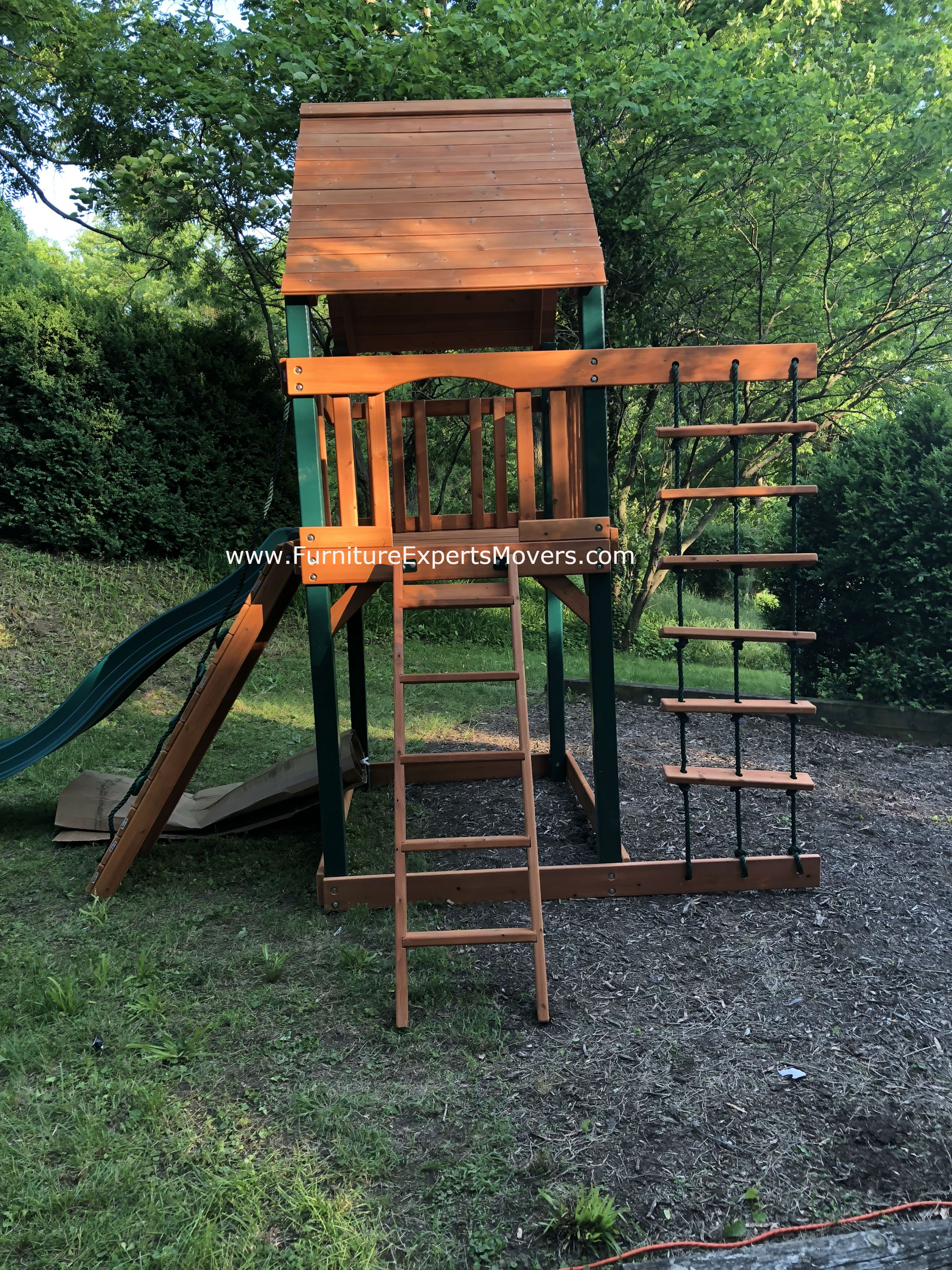 gorilla Chateau Tower Cedar Playset moving and installation