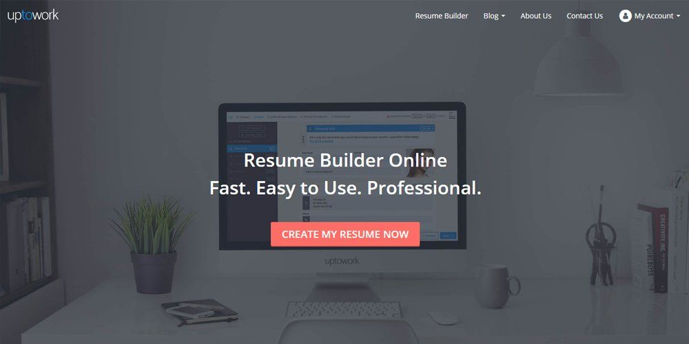 Uptowork Resume Builder | Online Resume Builders | Pinterest ...