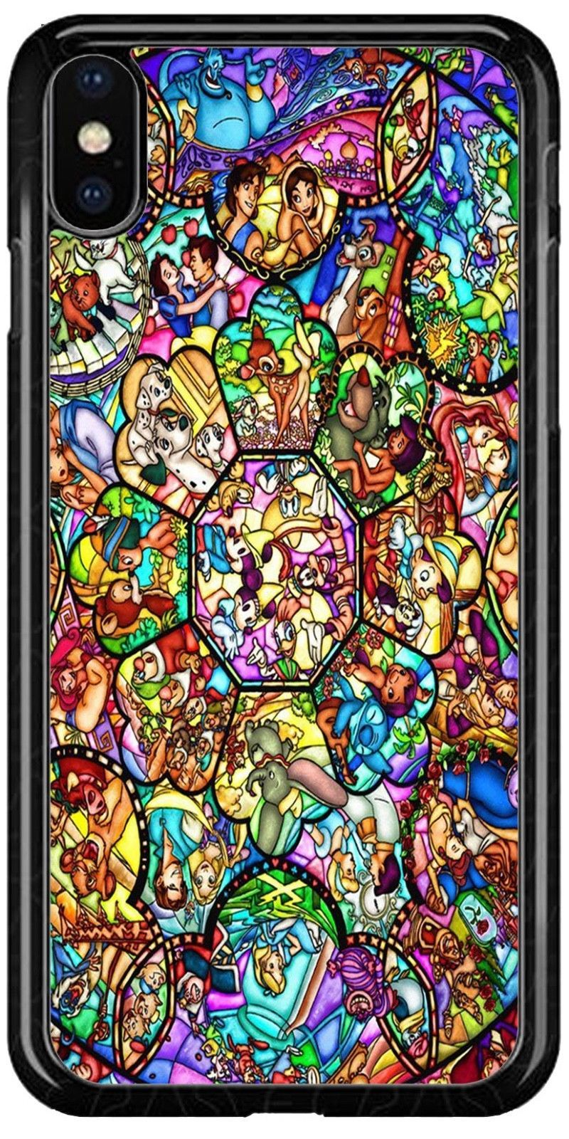 Disney Stained Glass Characters Castle iphone case