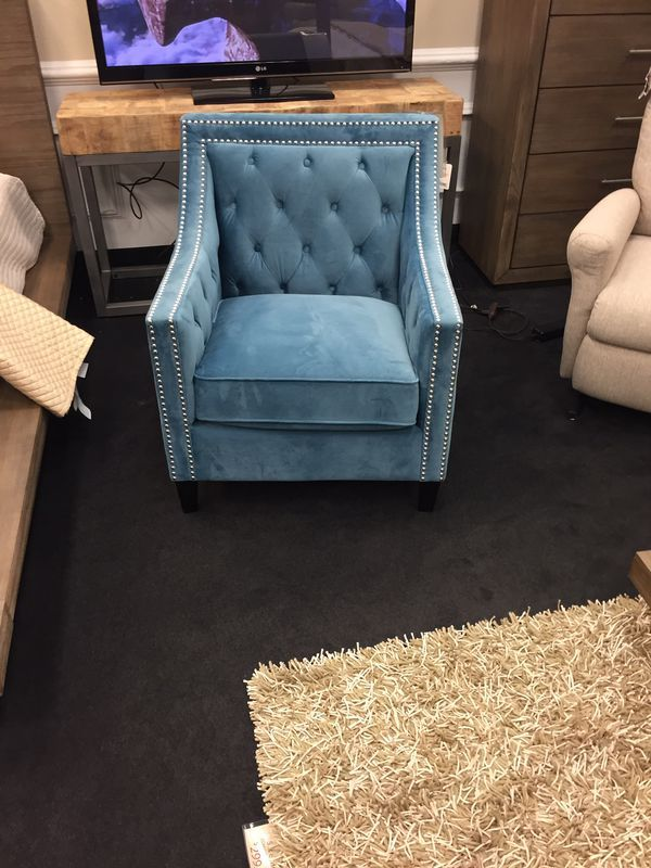Amazing Light Blue Studded Accent Chair For Sale In Phoenix Az Squirreltailoven Fun Painted Chair Ideas Images Squirreltailovenorg
