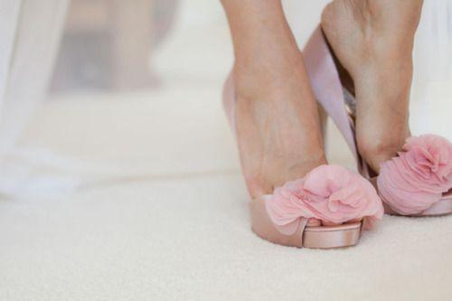 pink petal pumps