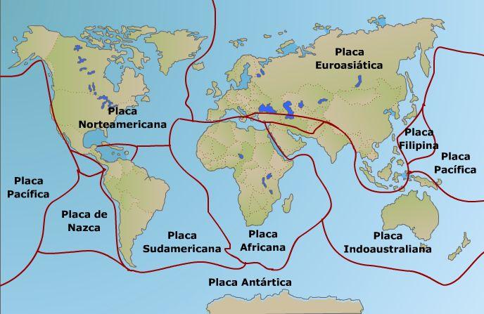 Resultado De Imagen Para Mapa De Las Placas Tectonicas Tectonica