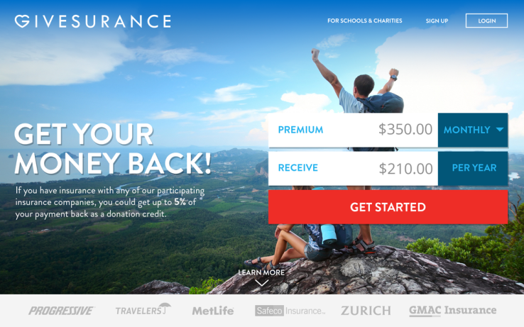 Givesurance Will Turn Your Insurance Payments Into Charitable