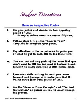 Reverse Perspective Poetry Poem Template A Geographical History Of Africa Paraphrase