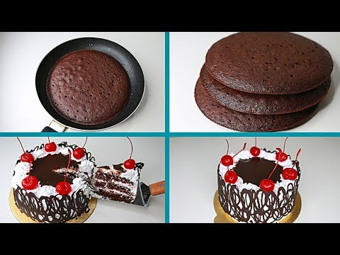 119 Black Forest Cake In Fry Pan Eggless Without Oven Eggless Black Forest Cake Homemade Cake Recipes Chocolate Black Forest Cake Tasty Chocolate Cake