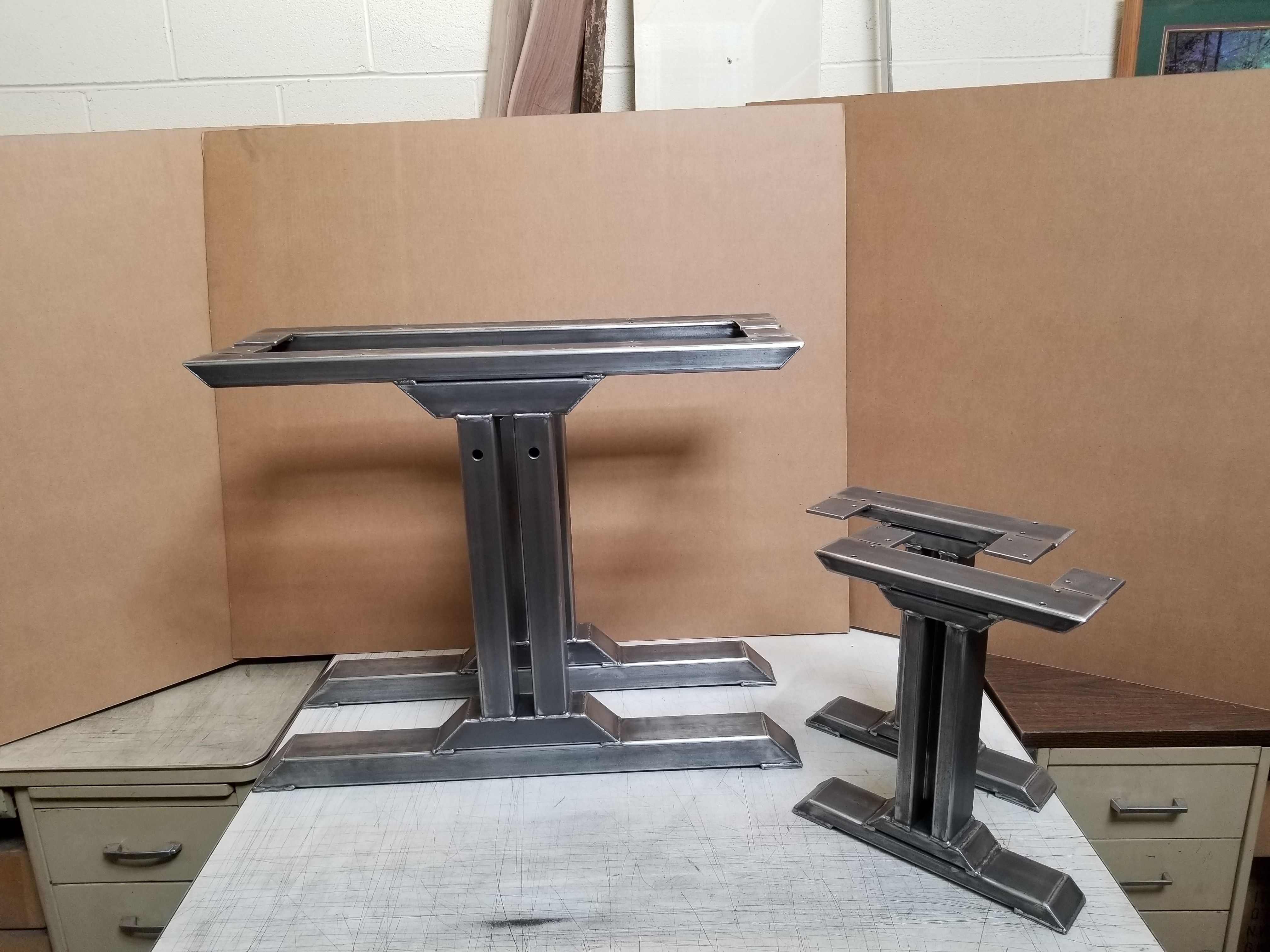 Contemporary dining table bases  Custom Made Stylish Dining Table Legs With Bench Legs  CA house