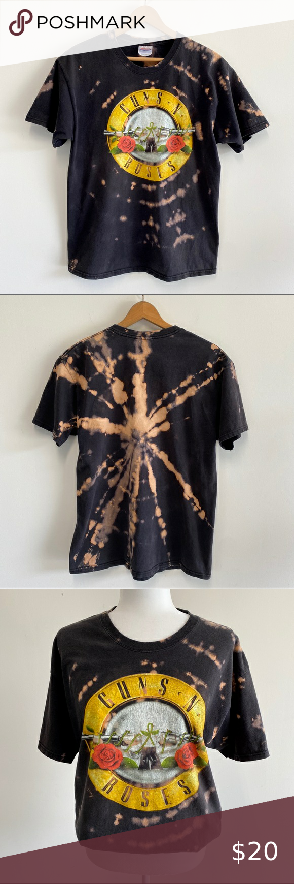 Reverse Tie-Dyed Guns N Roses Graphic Tshirt