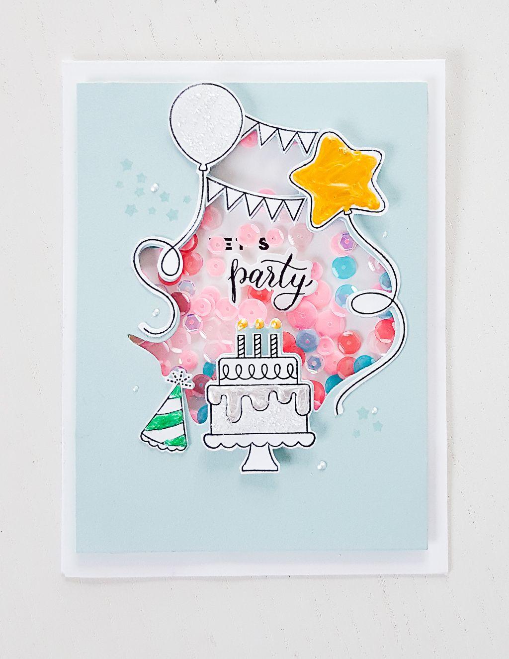 Janna Werner Papiersalat Pinkfresh Studio June Stamp Release Blog Hop Honey Bee Stamps Lets Celebrate Cards