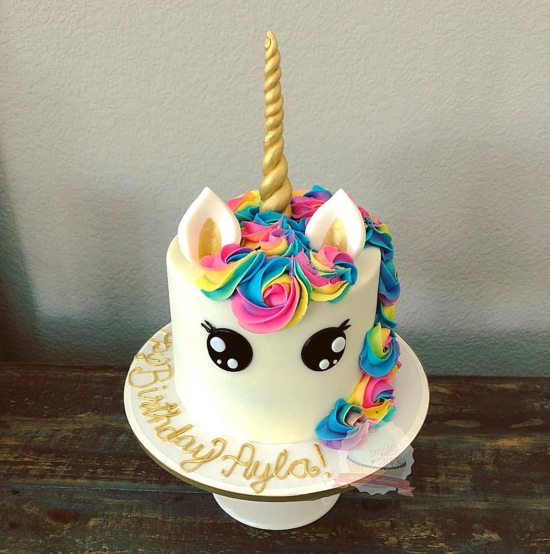 Rainbow Unicorn Cake Smallandsimpleconfections