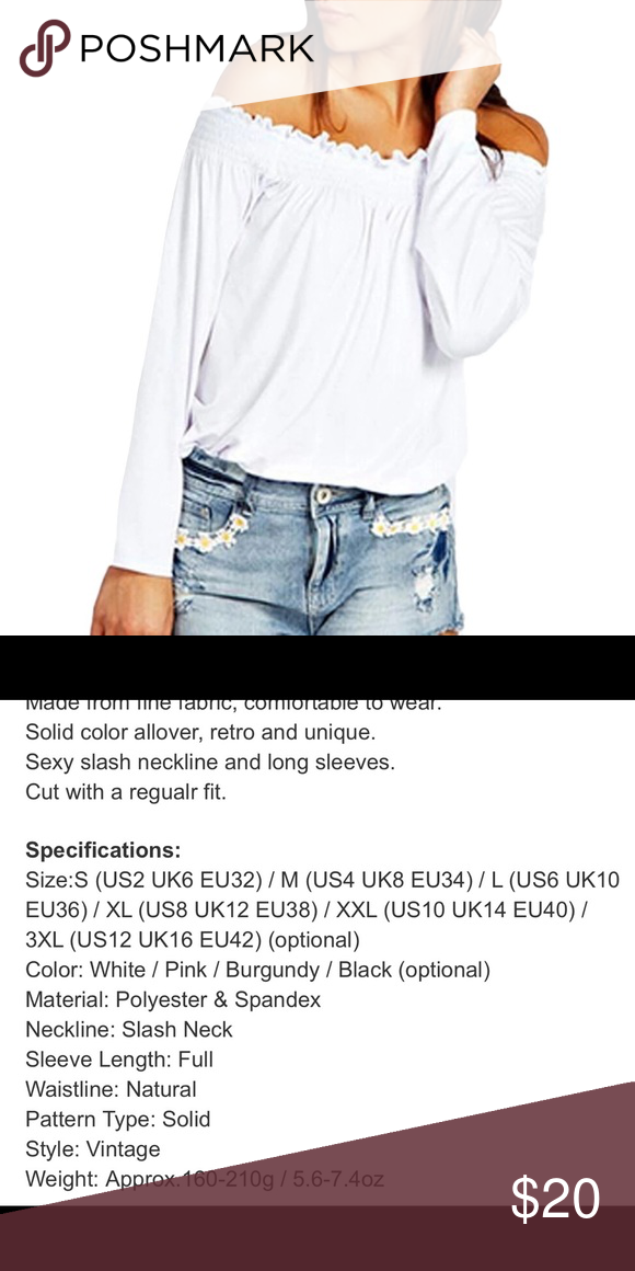 a756b593aae Off Shoulder XXL - Plus Size Trendy top Super cute off Shoulder shirt. This  is a 2XL  XXL.refer to picture for sizing details. This does run 1 size  bigger ...