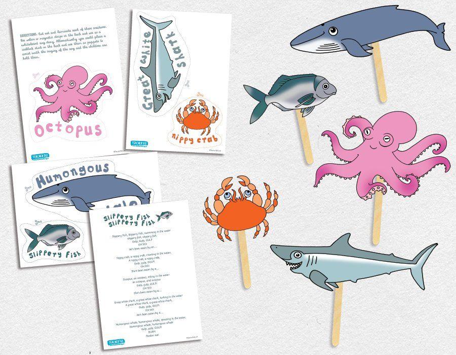 Slippery Fish Song Puppets … TeacherTalk … INSPIRING EARLY ...