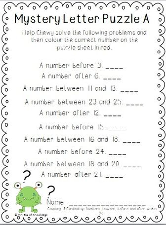 Freebie From Math Mystery Messages For Kindergarten Students Solve