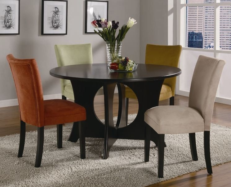 Danforth Dining Table | Round dining room, Contemporary ...