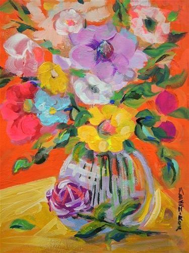Spring Bouquet - Original Fine Art for Sale - © by Mary Schiros