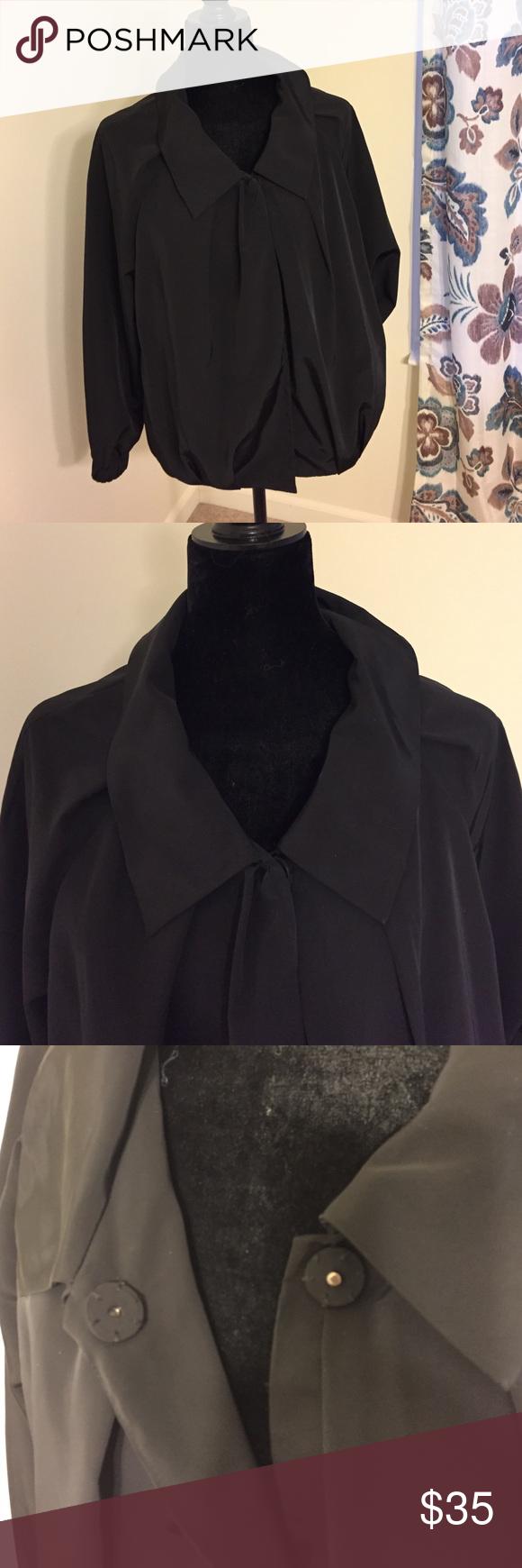 Vera Wang Black Jacket Black jacket by Simply Vera Wang. Button close, front pockets. Perfect condition! Simply Vera Vera Wang Jackets & Coats