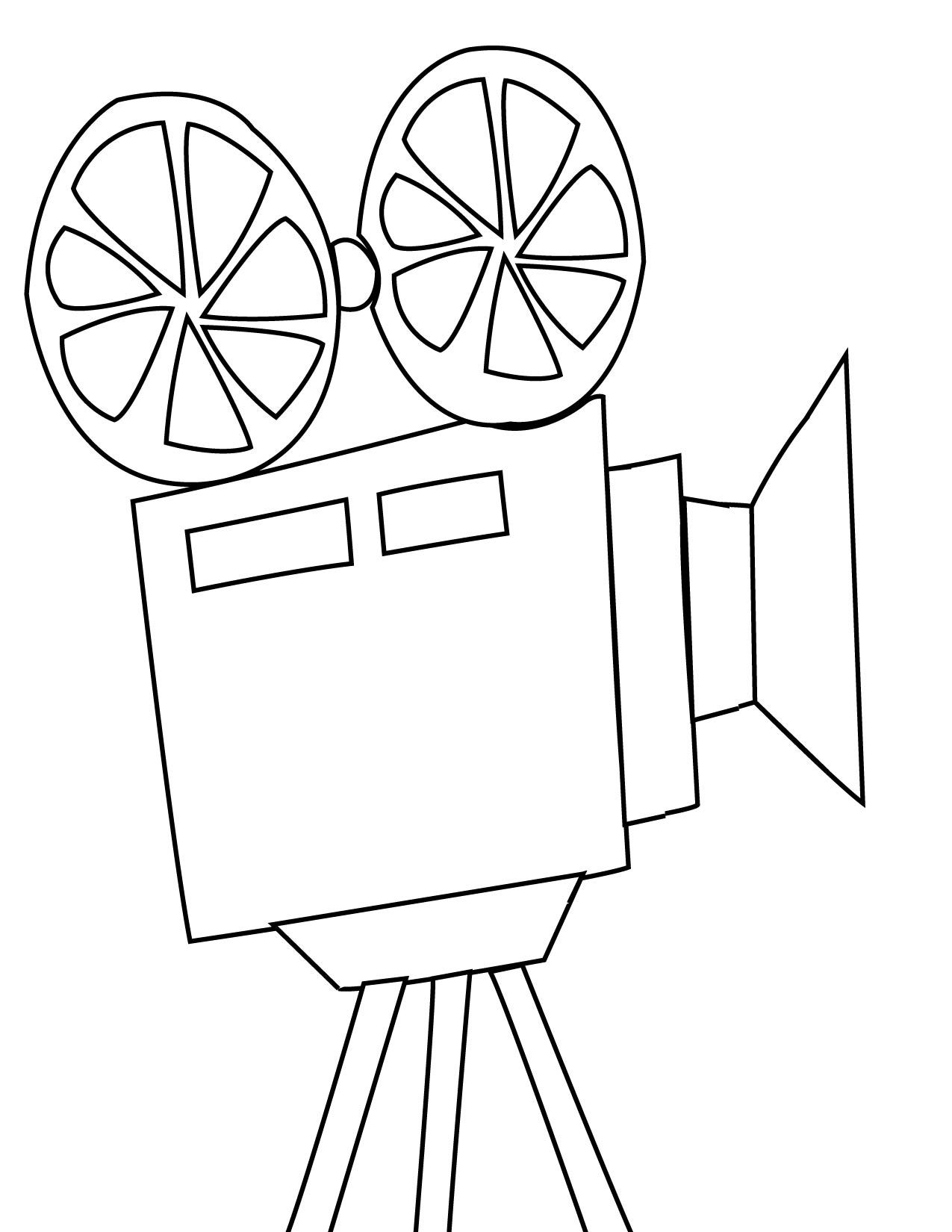 Popcorn Box Coloring Page
