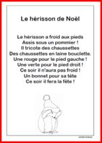 Le Noël De Hérisson Comptines De Noel Comptines Et Poésie