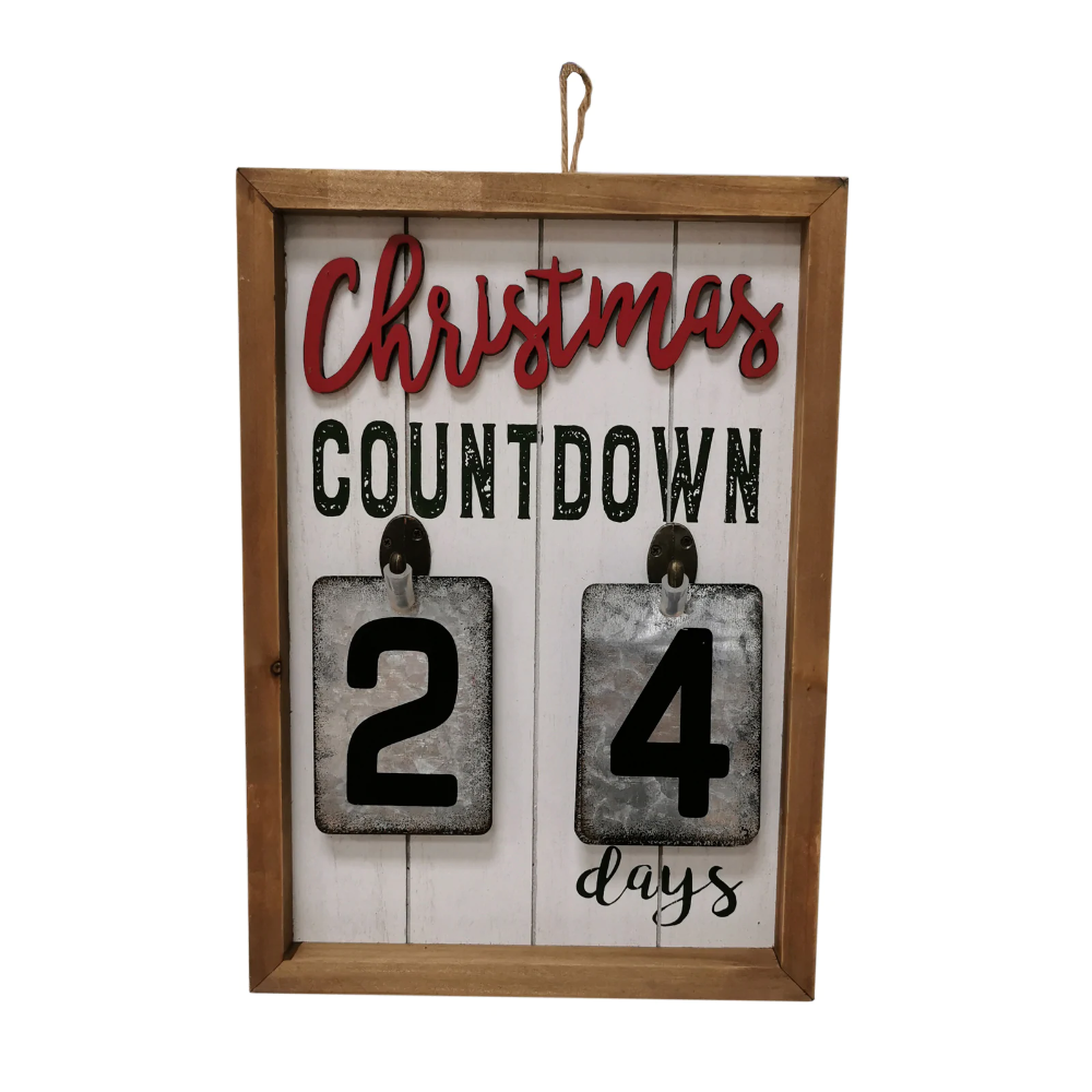 Shop For The Christmas Countdown Wall Sign By Ashland At Michaels Wall Signs Christmas Countdown Countdown
