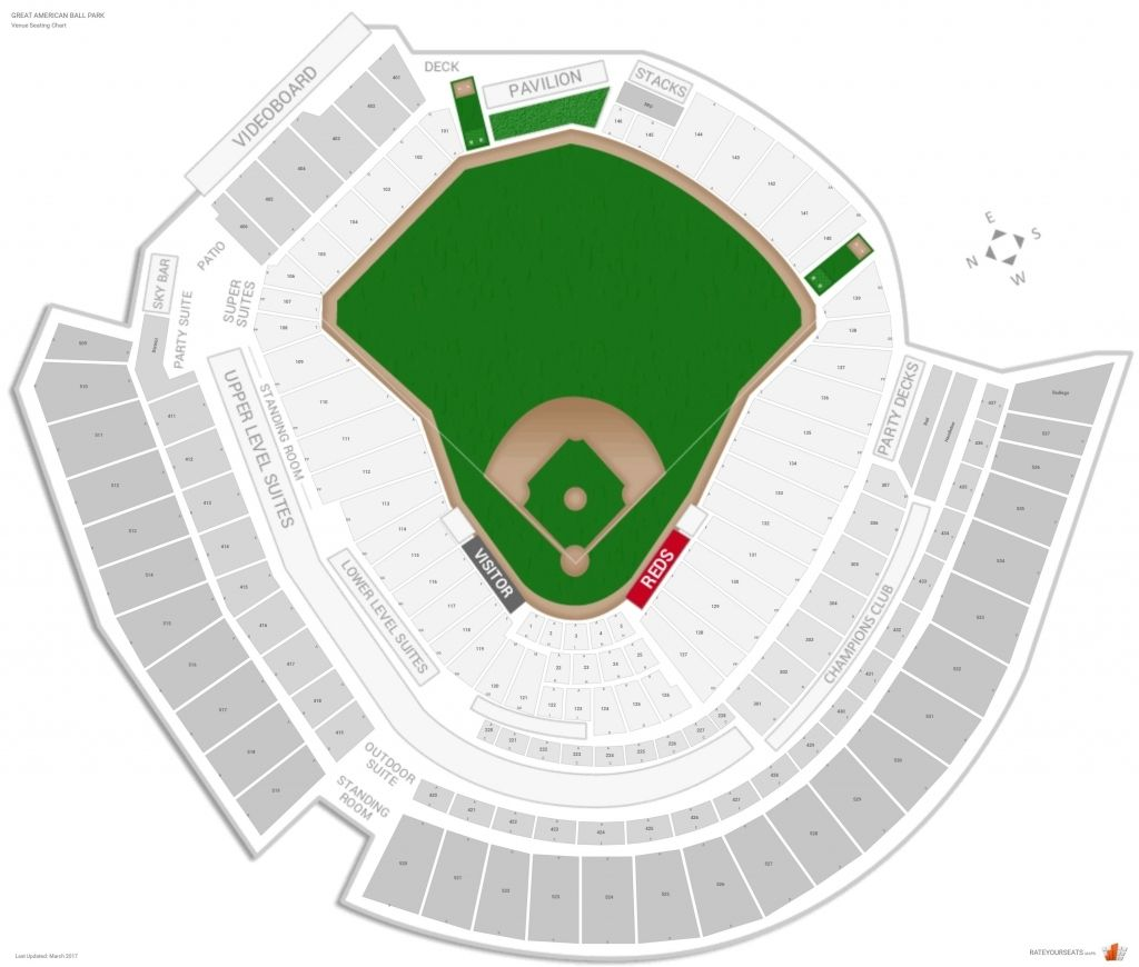 The Brilliant And Gorgeous Great American Ballpark Seating Chart Seat Numbers
