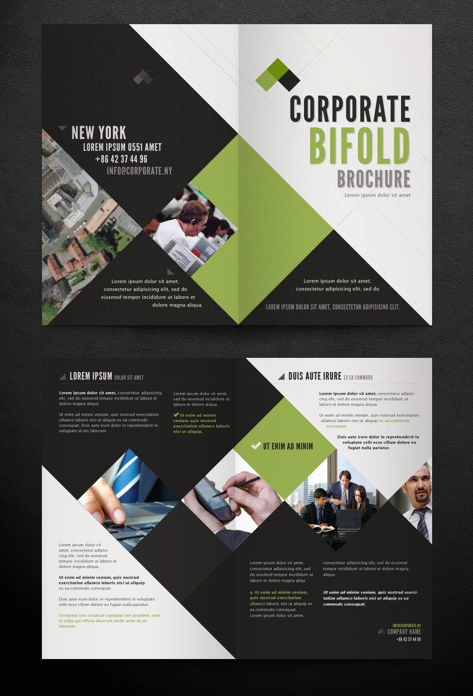 corporate bi fold brochure template print templates pinterest
