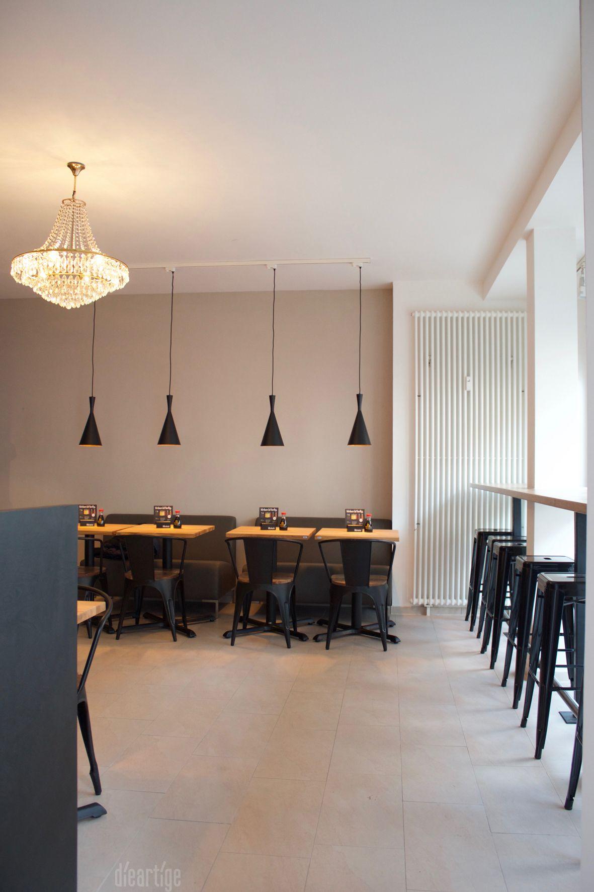 Dieartige raumplanung sushibar industrial design for Raumgestaltung cafe